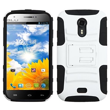 Insten® Advanced Armor Stand Protector Case For BLU D530 Studio 5.0, White/Black