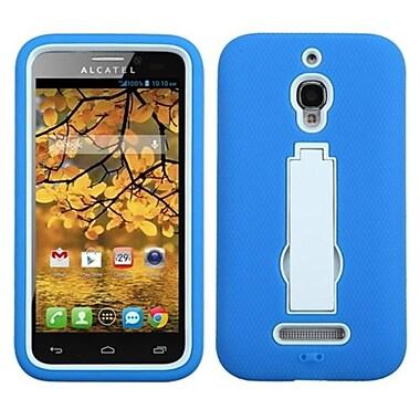 Insten® Symbiosis Stand Protector Case For Alcatel 7024W, White/Dark Blue