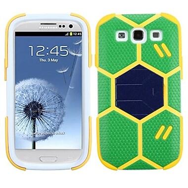 Insten® Hybrid Protector Case With Dark Blue Stand For Samsung Galaxy SIII, Green/Beige Goalkeeper