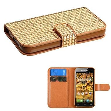 Insten® Diamonds Book-Style MyJacket Wallets With Card Slot For Alcatel 7024W