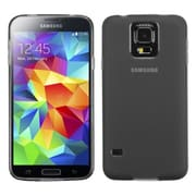 Insten® Rubberized Candy Skin Case For Samsung Galaxy S5, Semi Transparent Smoke