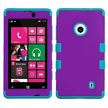 Insten® Rubberized TUFF Hybrid Phone Protector Case For Nokia Lumia 521, Grape/Tropical Teal