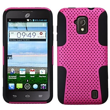 Insten® Protector Case For ZTE Z795G Solar, Hot-Pink/Black Astronoot