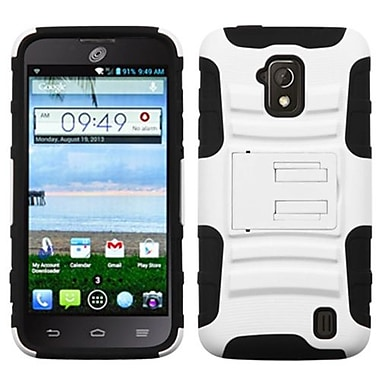 Insten® Advanced Armor Stand Protector Case For ZTE Z795G Solar, White/Black