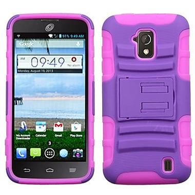 Insten® Advanced Armor Stand Protector Case For ZTE Z795G Solar, Purple/Electric Pink