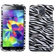 Insten® Phone Protector Case For Samsung Galaxy S5, Zebra