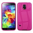 Insten® Candy Skin Case For Samsung Galaxy S5, Hot-Pink Basketball Texture