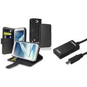 Insten® 1846257 2-Piece Adapter Bundle For Samsung Galaxy Note II N7100