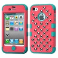 Insten® TUFF Hybrid Phone Protector Covers W/Studs F/iPhone 4/4S