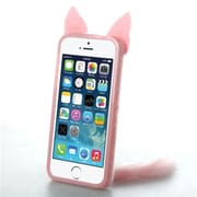 Insten® Back Protector Cover F/iPhone 5/5S, Pink (Fox)