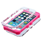 Insten® TUFF Hybrid Phone Protector Cover F/iPhone 5/5S, Spring Flowers/Electric Pink
