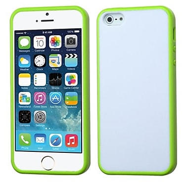 Insten® Gummy Cover F/iPhone 5/5S, Glassy Solid White/Green