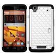 Insten® Protector Case For ZTE N9520 Max, White/Black Luxurious Lattice Dazzling