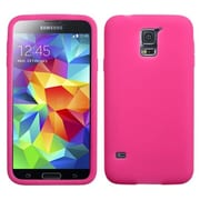 Insten® Solid Skin Case For Samsung Galaxy S5, Hot-Pink