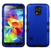 Insten® TUFF Hybrid Phone Protector Case F/Samsung Galaxy S5, Titanium Dark Blue/Black