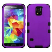 Insten® Rubberized TUFF Hybrid Phone Protector Case For Samsung Galaxy S5, Grape/Black