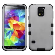 Insten® Rubberized TUFF Hybrid Phone Protector Case For Samsung Galaxy S5, Gray/Black