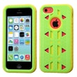 Insten® Aztec Armor Hybrid Phone Protector Case F/iPhone 5C, Natural Pearl Green/Yellow