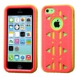 Insten® Aztec Armor Hybrid Phone Protector Case F/iPhone 5C, Natural Baby Red/Yellow