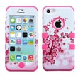 Insten® TUFF Hybrid Phone Protector Cover F/iPhone 5C, Spring Flowers/Electric Pink