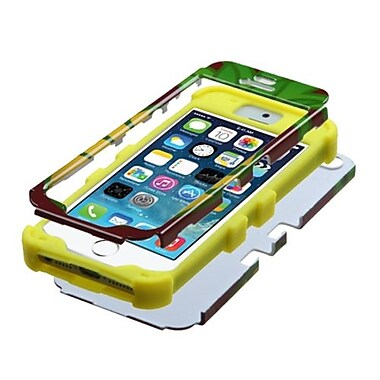Insten® TUFF Hybrid Phone Protector Cover F/iPhone 5/5S, Pineapple/Yellow