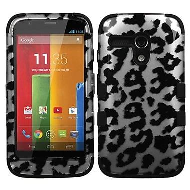 Insten® TUFF Hybrid Protector Case For Motorola G, Black Leopard 2D Silver/Black
