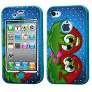 Insten® VERGE Hybrid Protector Case F/iPhone 4/4S, Strawberry/Tropical Teal