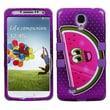 Insten® TUFF Hybrid Phone Protector Case For Samsung Galaxy S4, Watermelon/Electric Purple