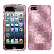 Insten® Diamante Protector Cover F/iPhone 5/5S, Pink