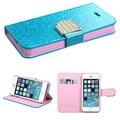 Insten® Glittering MyJacket Wallet Cases W/Diamante Belt F/iPhone 5/5S