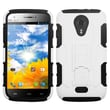 Insten® Car Armor Stand Protector Cover For BLU D530 Studio 5.0, White/Black