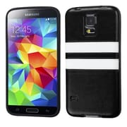 Insten® Candy Skin Cover With Leather Backing For Samsung Galaxy S5, Black/White