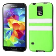Insten® Candy Skin Cover With Leather Backing For Samsung Galaxy S5, Apple Green/White