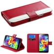 Insten® Book-Style MyJacket Wallet With Tray & Card Slot For Samsung Galaxy S5, Red/White