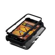 Insten® TUFF Hybrid Protector Cover For ZTE N9510 Warp 4G, Black/Black