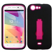 Insten® Symbiosis Stand Protector Cover For BLU L120 Life One, Hot-Pink/Black