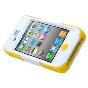 Insten® Goalkeeper Hybrid Protector Cover W/Stand F/iPhone 4/4S, Green/Yellow