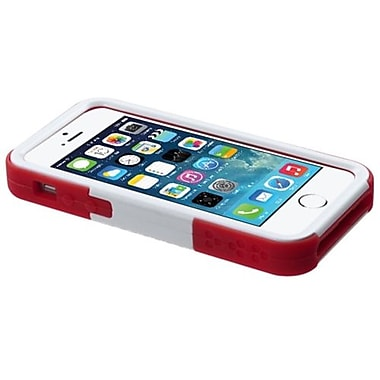 Insten® Goalkeeper Hybrid Protector Cover W/Stand F/iPhone 5/5S, Sapphire Blue/Red
