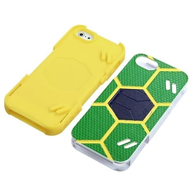 Insten® Goalkeeper Hybrid Protector Cover For iPhone 5/5S, Green/Yellow