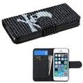 Insten® Diamonds Book-Style MyJacket Wallet Cases W/Card Slot F/iPhone 5/5S