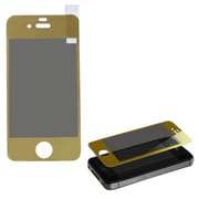 Insten® Tempered Glass Screen Protector For iPhone 4S, Gold
