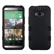 Insten® TUFF Hybrid Phone Protector Cover For HTC-One M8, Black/Black