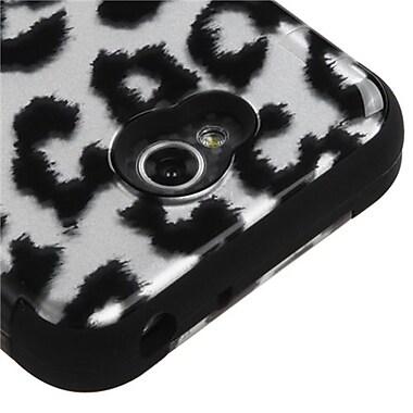 Insten® TUFF Hybrid Phone Protector Cover For LG MS323/VS450PP, Black/2D Silver Leopard