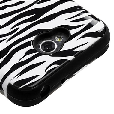 Insten® TUFF Hybrid Phone Protector Cover For LG MS323/VS450PP, Skin/Black Zebra