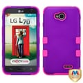 Insten® TUFF Hybrid Phone Protector Cover For LG MS323/VS450PP, Grape/Electric Pink