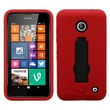 Insten® Symbiosis Stand Protector Cover For Nokia Lumia 635, Black/Red
