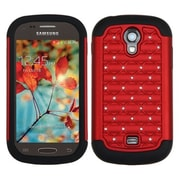 Insten® Luxurious Lattice Dazzling Protector Cover For Samsung T399 Galaxy Light, Red/Black