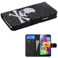 Insten® Diamonds Book-Style MyJacket Wallets With Card Slot For Samsung Galaxy S5