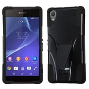 Insten® Inverse Advanced Armor Stand Protector Cover For Sony Xperia Z2, Black