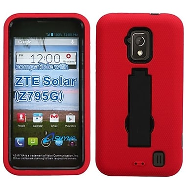 Insten® Symbiosis Stand Protector Cover For ZTE Z795G Solar, Black/Red